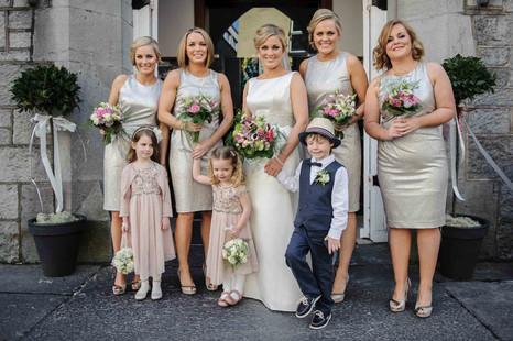 luxury bridal party - Galway wedding photographer