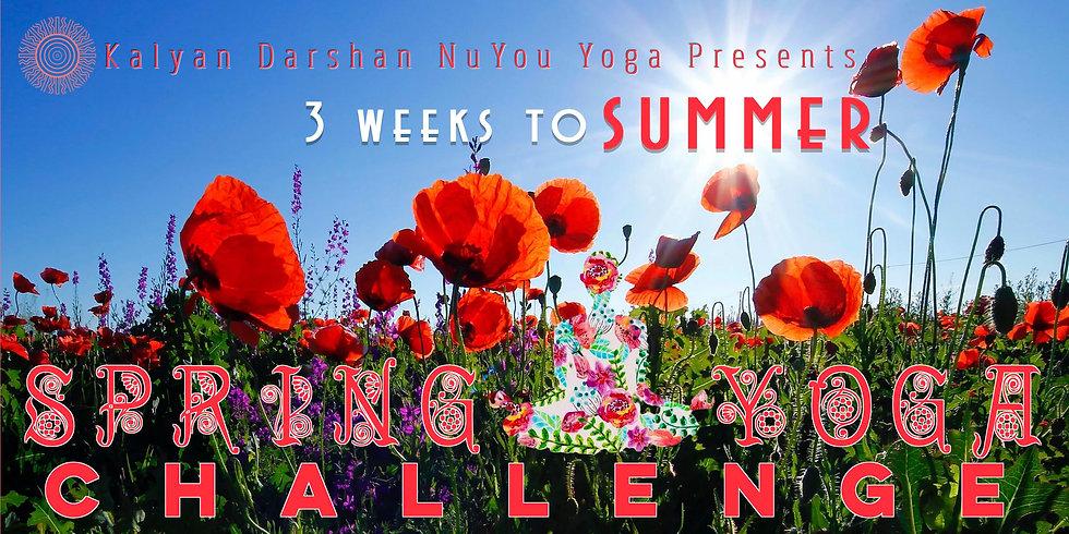 Spring Yoga Challenge 3 weeks to Summer.