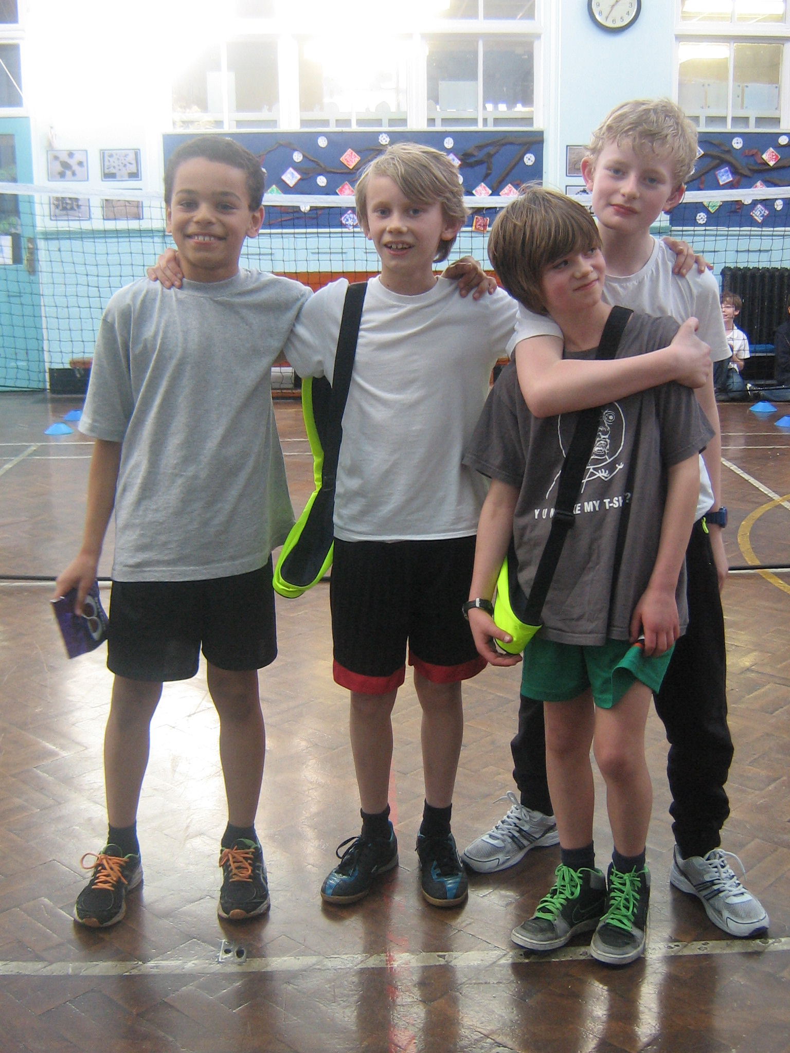 Y6 Badminton Finalists 2014
