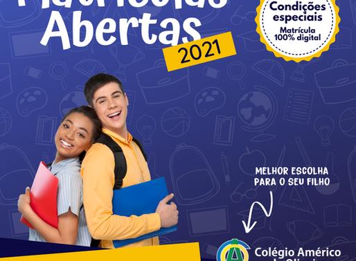 Matrículas Abertas para 2021