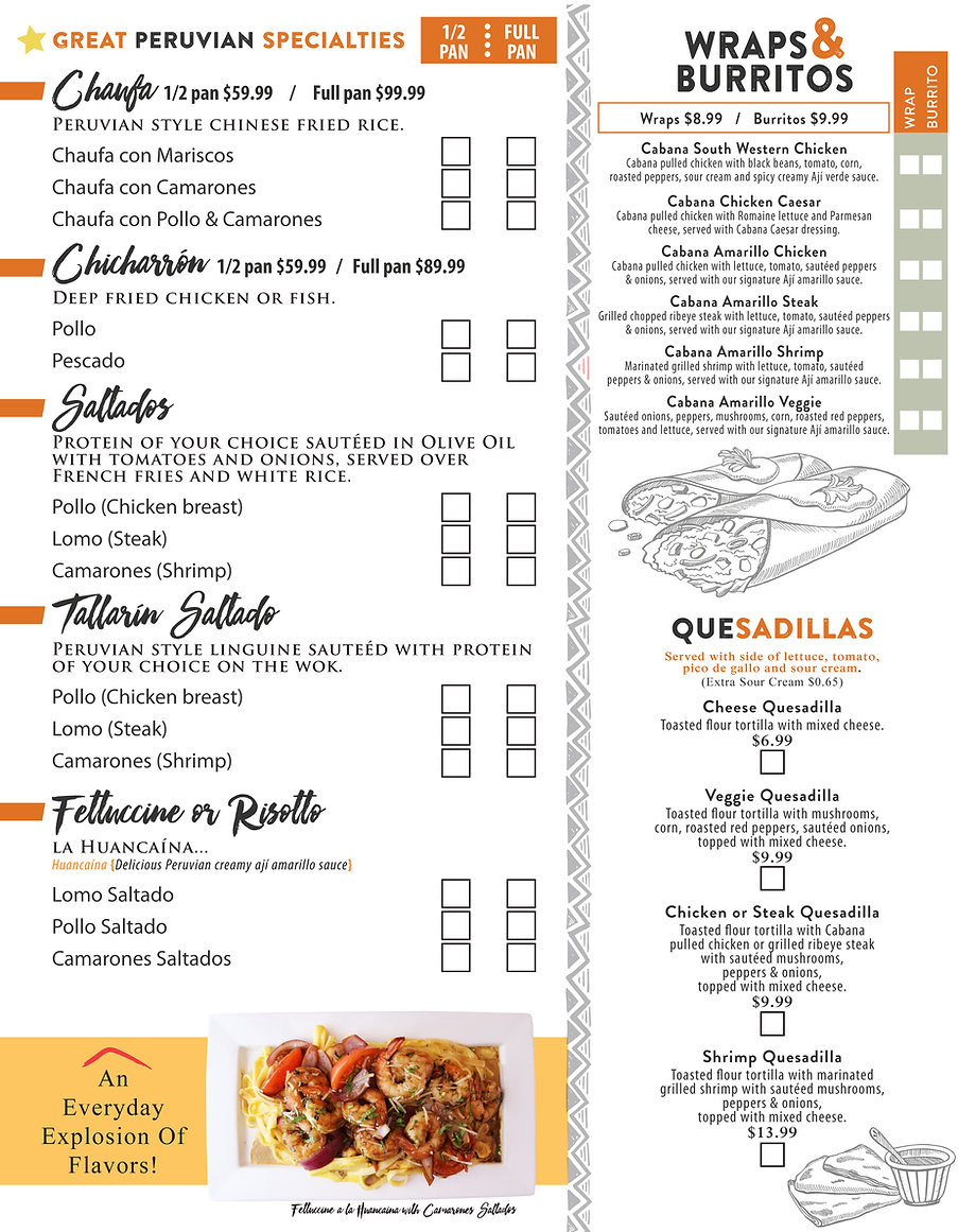 EASY ORDER FORM CATERING PAGE 2 811 02 2