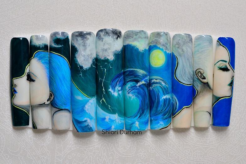 Japanese nail art | Seattle | SHIORI DURHAM | アメリカ合衆国