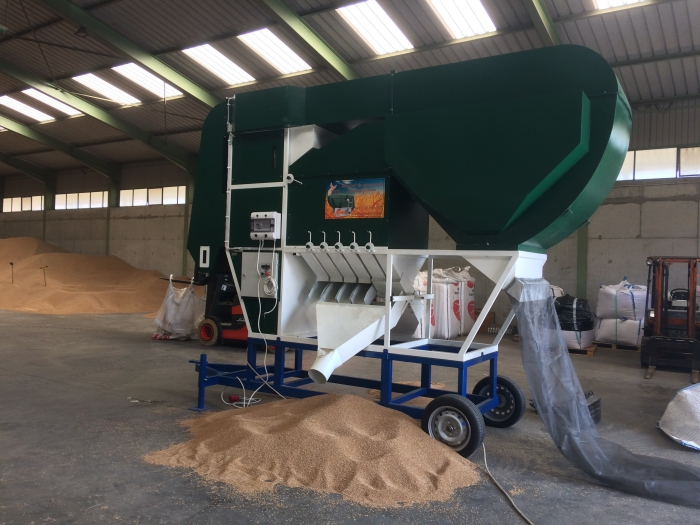 ISM Grain Separator Inside Grain Storage Building
