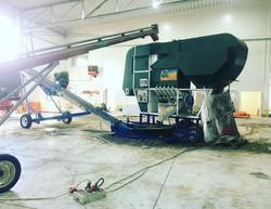 ISM Grain Setup Inside Building
