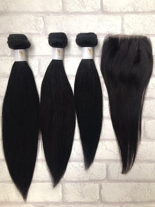 Admyhair Layered Bundle Set with 4 x 4 Closure Natural Colour