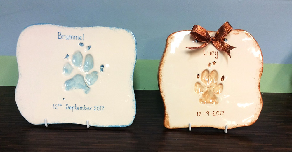 Finished clay imprints awaiting collection.