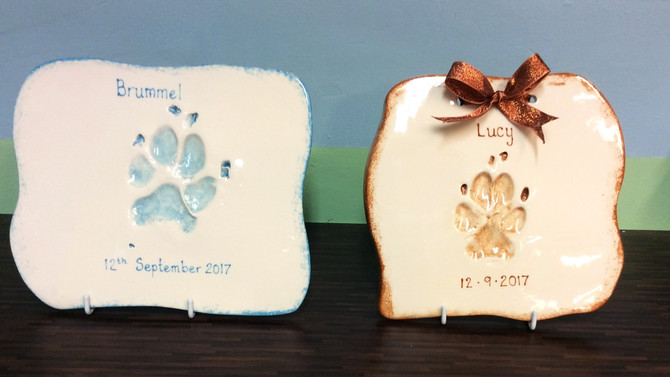 Did you know that we also cast pet paw prints?