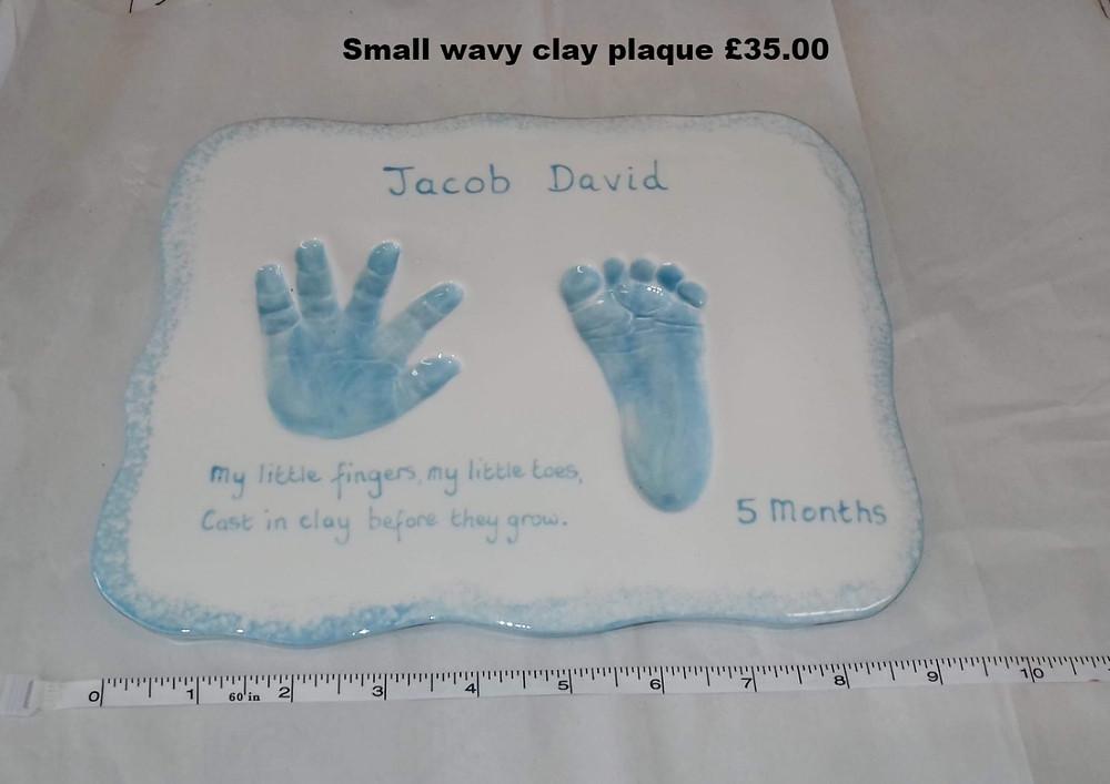 Small wavy clay plaque £35.00