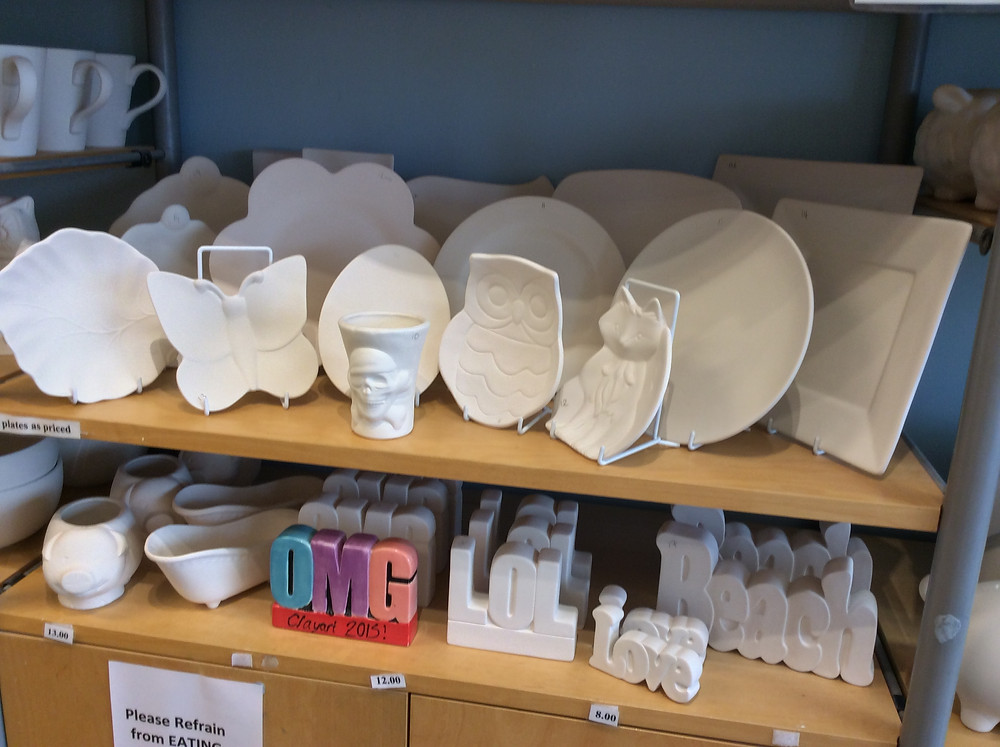 plain pottery ready for painting