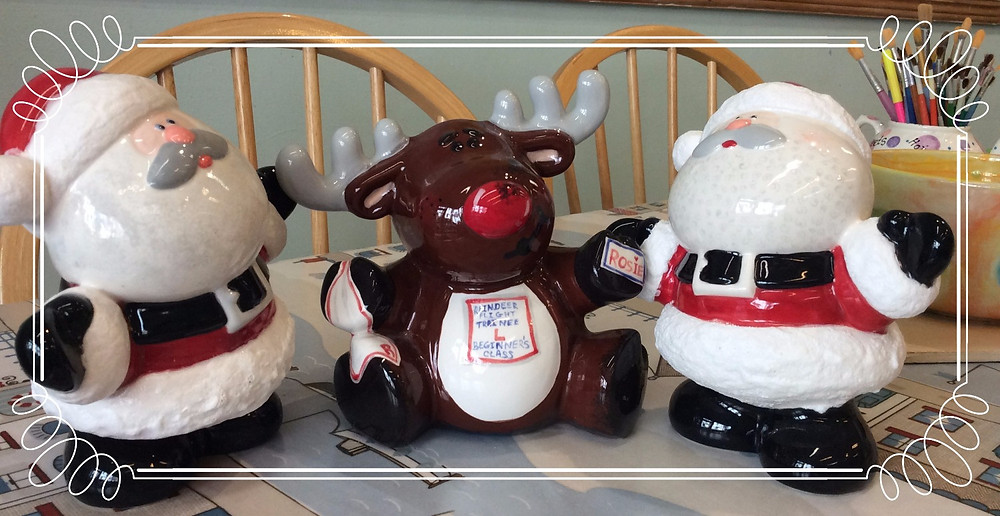 painted examples from our Christmas display
