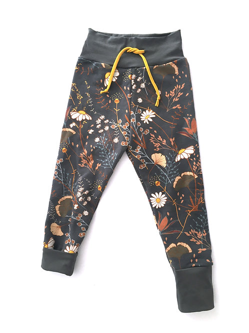 Pantalon évolutif fleurs Anthracite