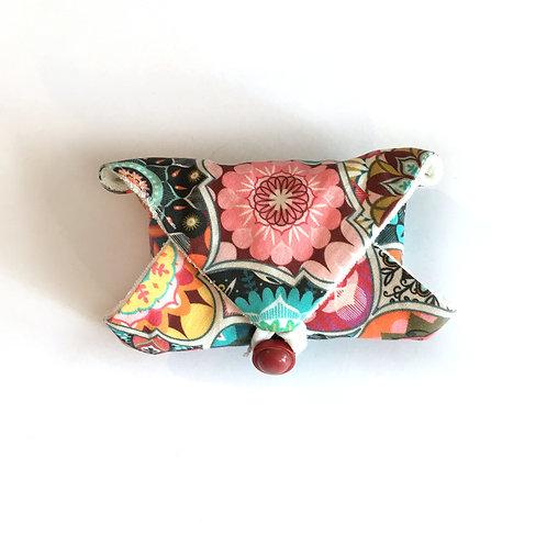 Pochette savon coton/ gants bambou lavable - Mandala