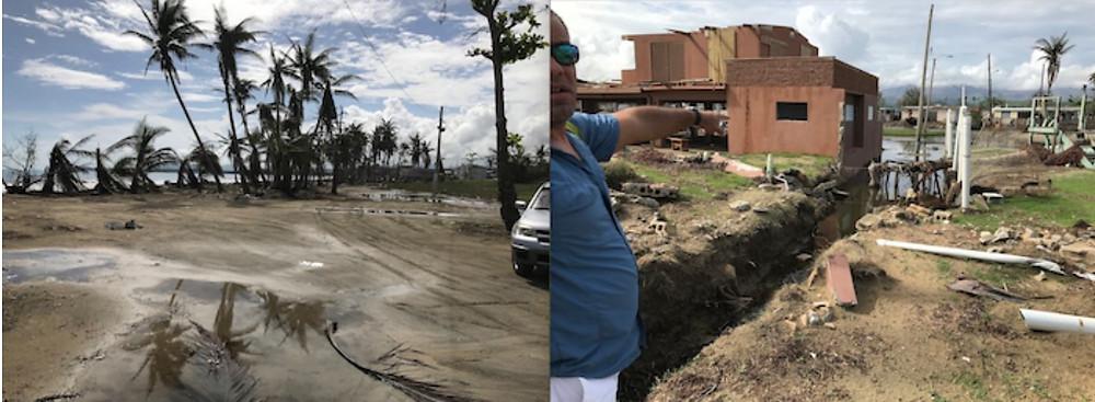 unta Santiago en Humacao presenta mucha devastación. (Cortesía de Maritza Barreto)