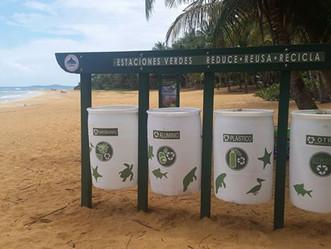 Llegan las Estaciones Verdes de Reciclaje del DRNA a Playa Azul en el Municipio de Luquillo