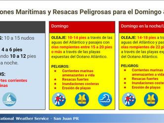 Lo que significa el evento de marejadas de hoy, 4 y 5 de marzo del 2018 en Puerto Rico.... (en arroz