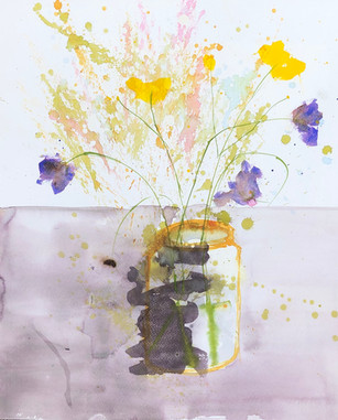 Blomster i glas