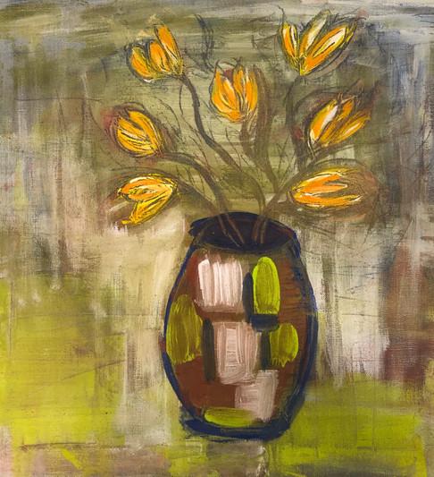 Krukke med tulipaner