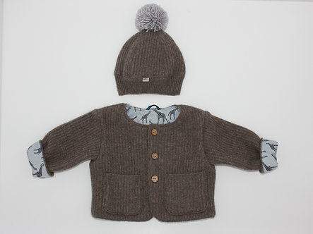 Pinecone - age 6 months (coat & hat set)