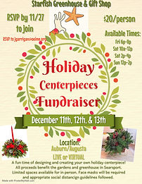Holiday Centerpiece Fundraiser - Made wi