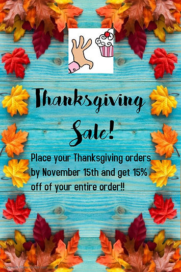 Copy of Thanksgiving Sale Poster - Made