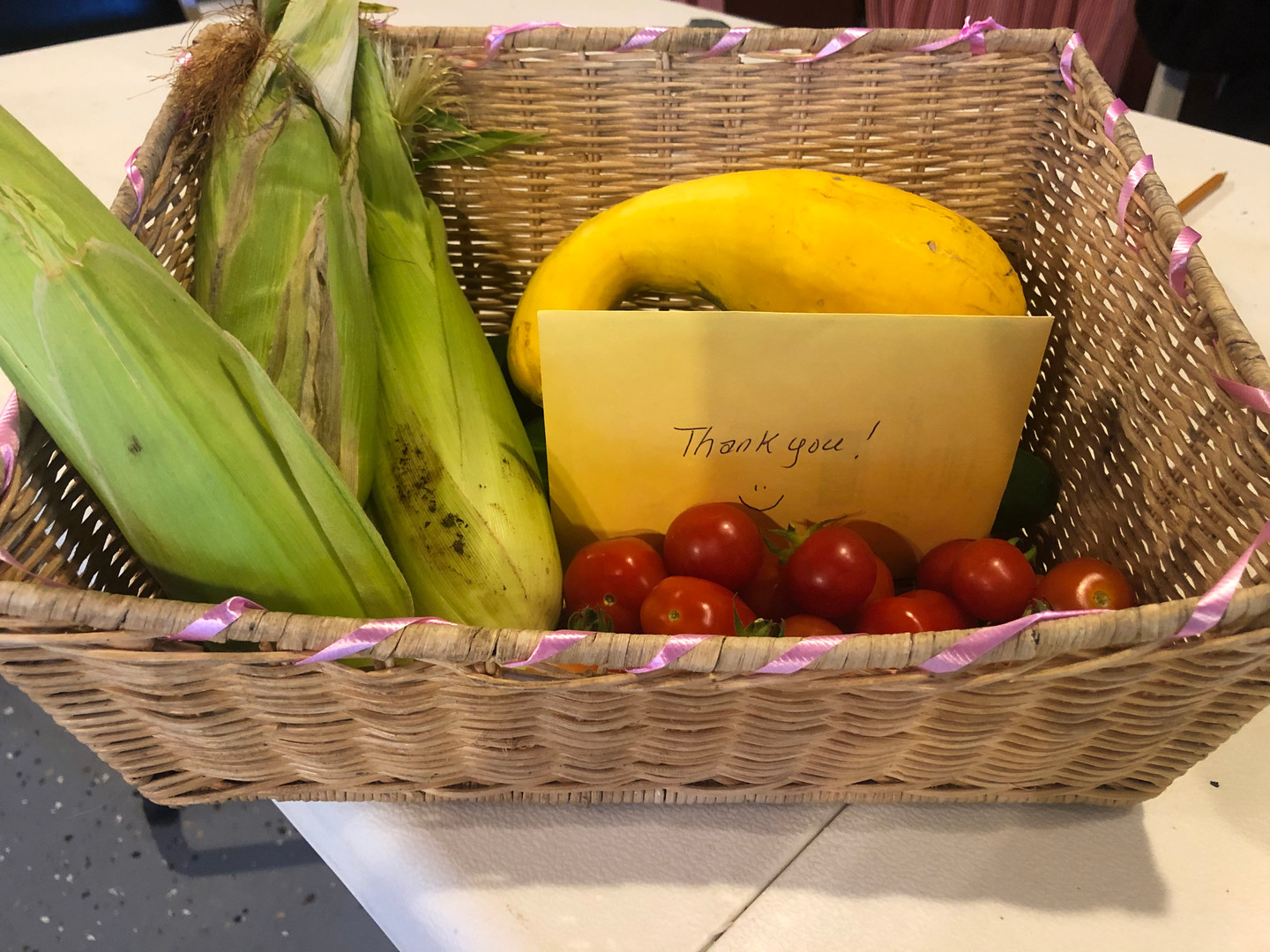 """Thank You"" basket"