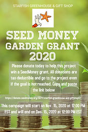 Seed Money Campaign - Made with PosterMy