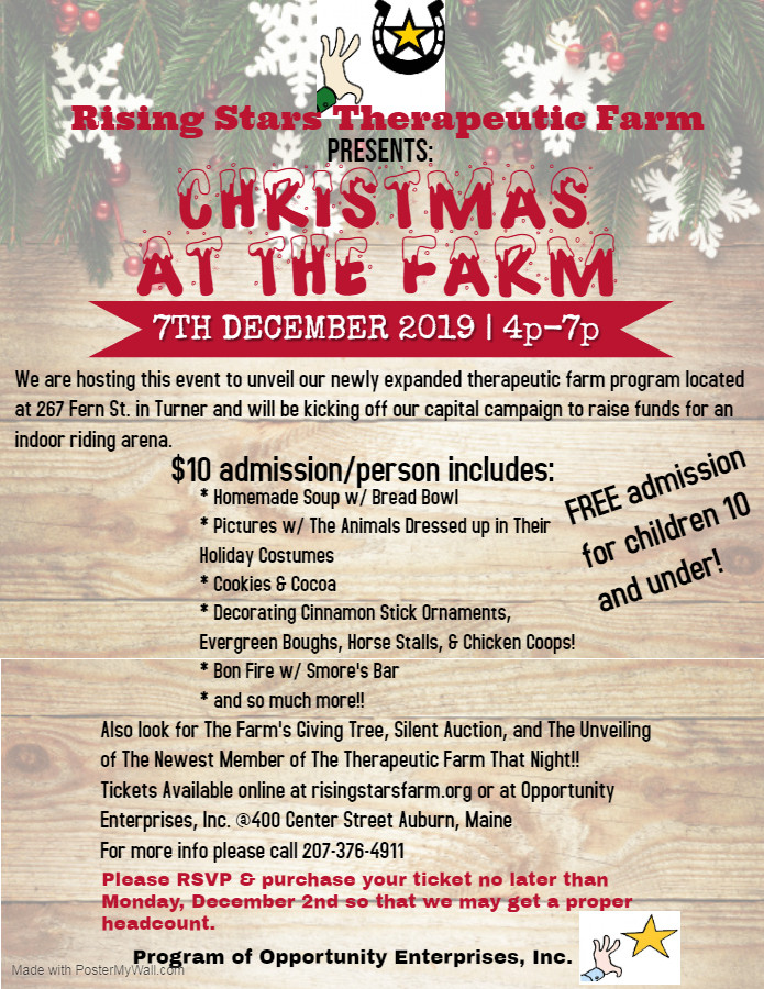 Christmas at The Farm - Made with Poster