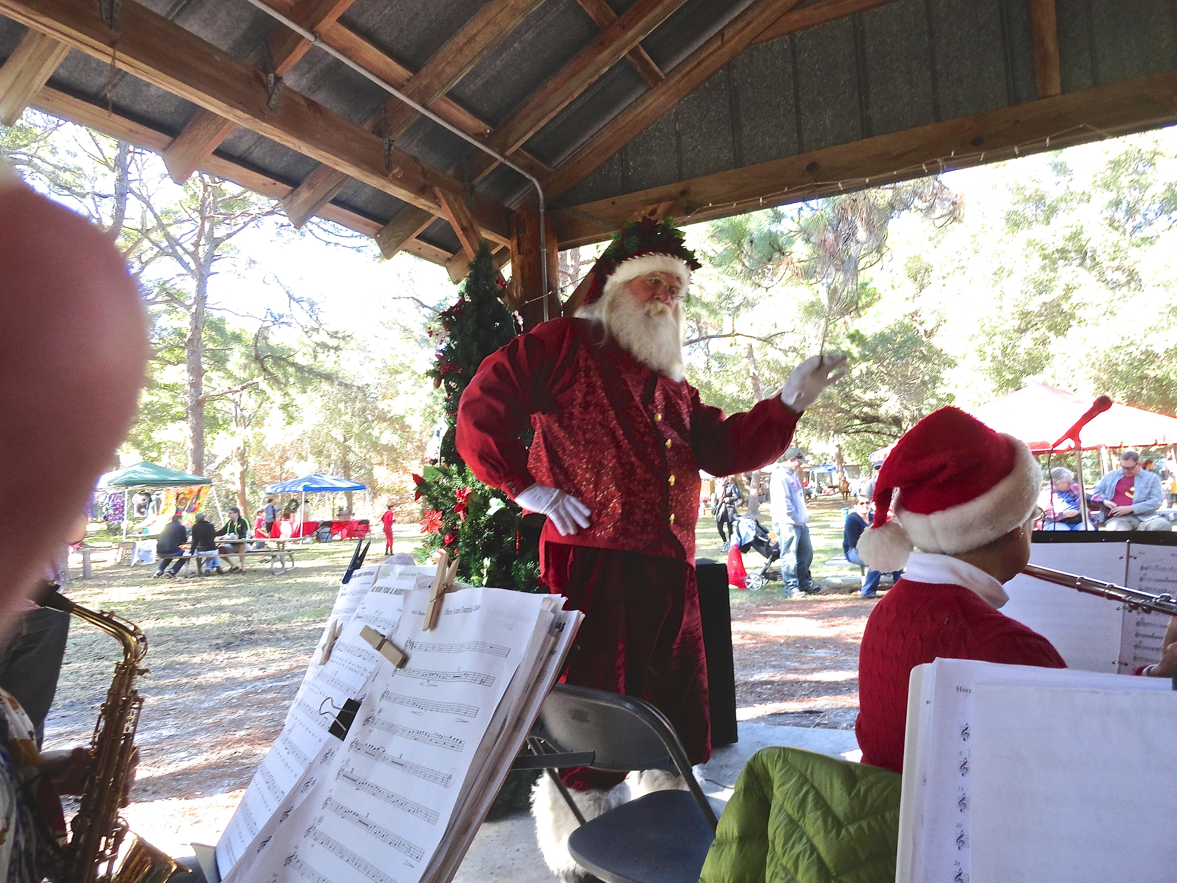 Santa with band