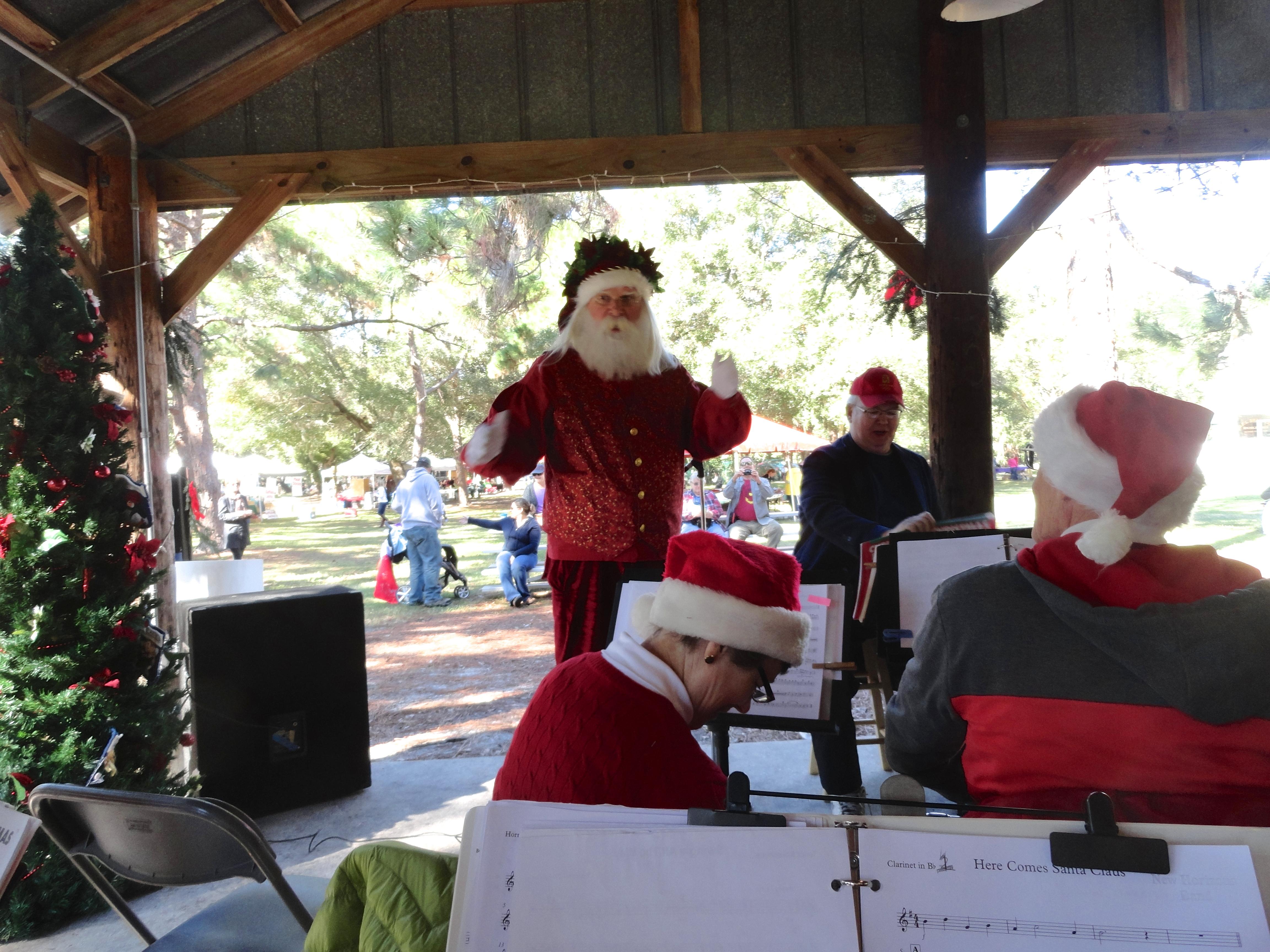Santa Directs Band