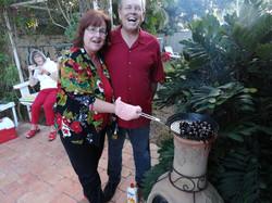 John & Sylvia Roasting Chestnuts