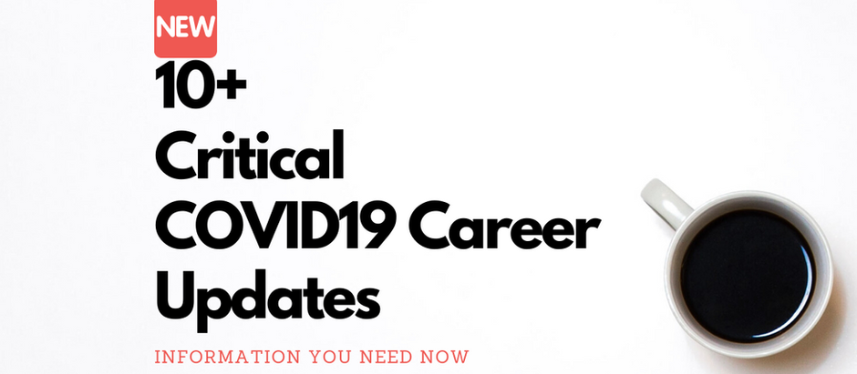 10+ Resources to manage your career through COVID 19