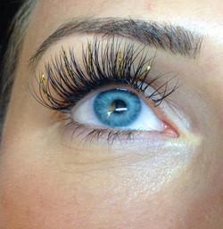 Gold Glitter Lashes