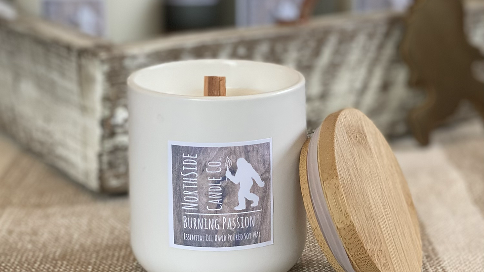 8 oz . White Ceramic Jar