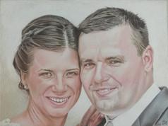 Pasztell portré - Esküvő