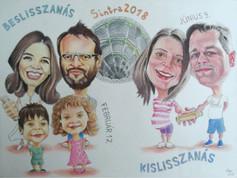 Pasztell karikatúra - Sintra