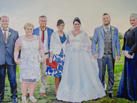 Olaj portré - Nagy család
