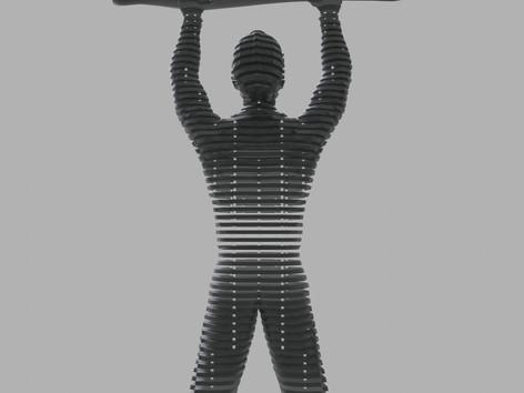 Térplasztika - Acél szobor_8