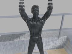 Térplasztika - Acél szobor_4