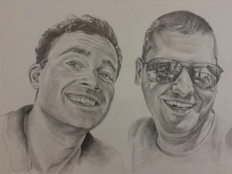 Grafit portré - Friends