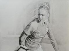 Grafit portré - Focista lány