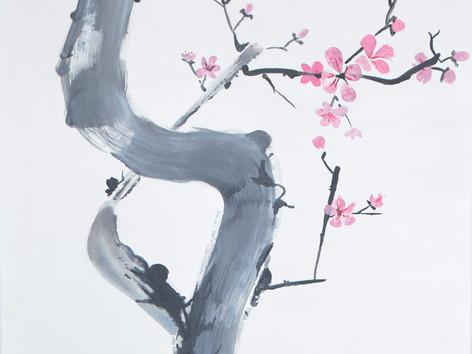SUMI-E - Cseresznyefa