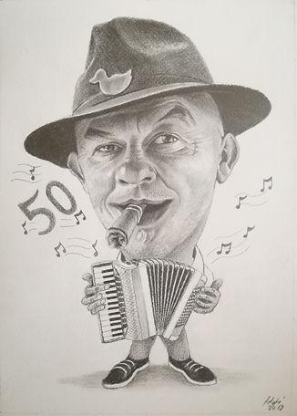 HJ Art Studio_grafit karikatúra, karikatúra készítés