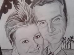 Grafit karikatúra - Just Married