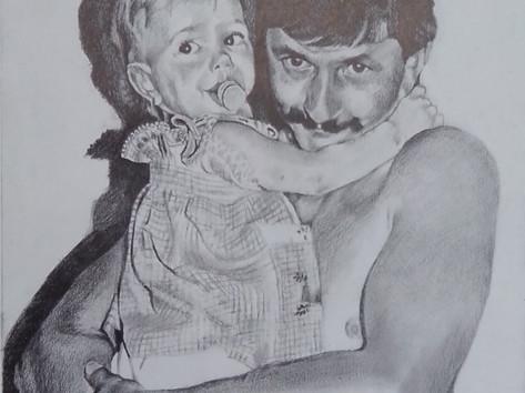 Grafit portré - Apja lánya