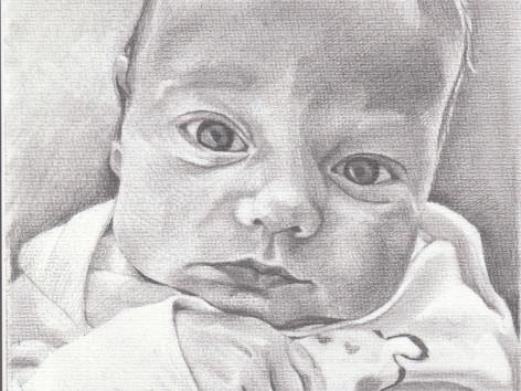Grafit portré - Baba