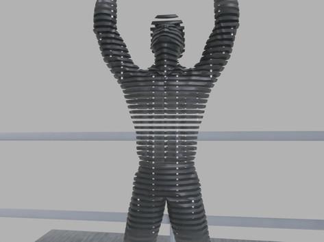 Térplasztika - Acél szobor_11