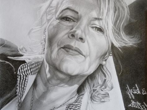 Grafit portré - Hölgy