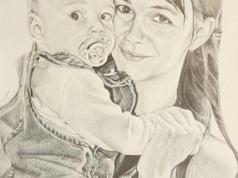 Grafit portré - Lánya unokája