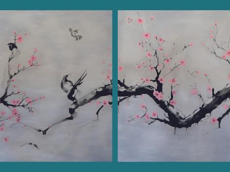 SUMI-E - Cseresznyefa madarakkal.jpg