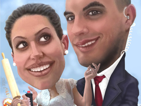 Digitális karikatúra - Just Married